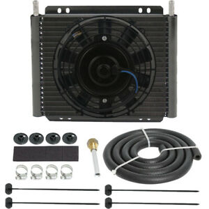 High Performance Transmission Oil Cooler 8 Electric Fan Kit Heavy Duty Towing