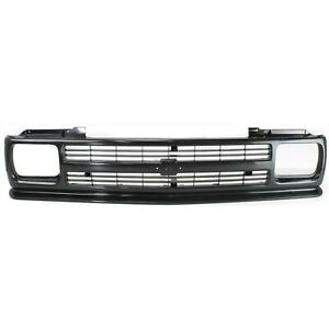 Grille For 91 93 Chevrolet S10 91 94 S10 Blazer Black Plastic