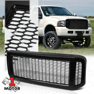 Glossy Black Abs Honeycomb Mesh Bumper Grille For 05 07 Ford F250 F350 Excursion