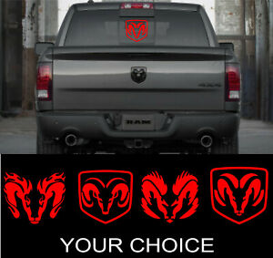Dodge Ram Head Perfect Vinyl Decal Sticker For Your Trucks Rear Window