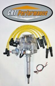 Chevy 194 216 235 I6 Straight 6 Hei Distributor Clear Cap Yellow Plug Wires
