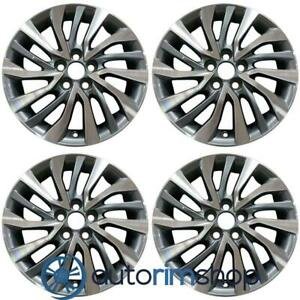 New 16 Replacement Wheels Rims For Toyota Corolla 2017 2019 Set Machined Wit