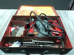 Hilti Te17 Rotary Hammer Drill With Case Extras Drill Bits And Manual