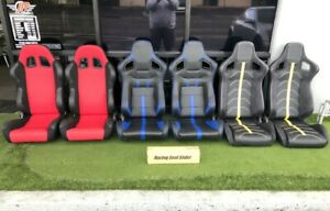 Universal Front Right Left Black Red Blue Yellow Gray Leather Racing Seats Seat