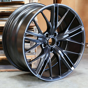 20x10 20x11 Zl1 Style Fit Camaro 5x120 23 43 Matte Black Wheels Rims Set 4