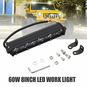 60w 8inch Spot Led Work Light Bar Car Truck Offroad Suv 4wd Flood Driving Lamp