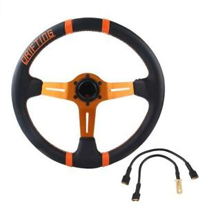 350mm 6 bolt Car Racing Steering Wheel Universal Auto Steering Wheel With Horn