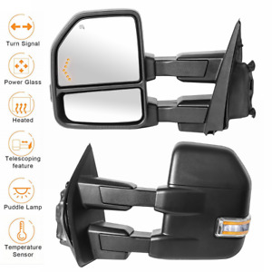 2 Power Heated Tow Mirrors W Temp Sensor For 15 19 Ford F 150 Truck Lh Rh 8 Pin