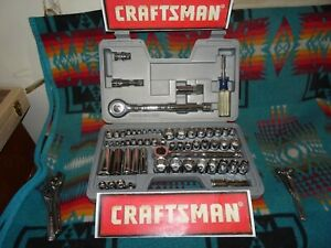 Old Nos Craftsman Usa New 62 Piece Socket Set W Ratchets Sockets Made In Usa