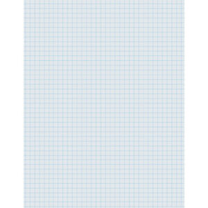 Pacon Graphing Paper White 1 4 Quadrille Ruled 8 1 2 X 11 500 Sheets