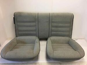 1982 1992 Camaro Rear Bucket Seats Oem Firebird Rear Bucket Seats Grey Cloth