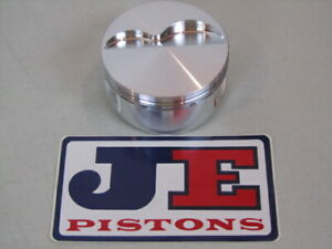 8 New Je Forged 4 040 Sbc Flat Top Pistons W Rings pins 350 Chevy Race Car K