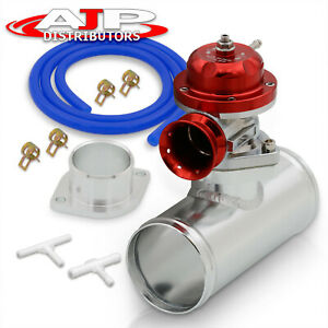 Red Type Rs Performance Chrome Bov Blow Off Valve 2 5 Aluminum Adapter Kit