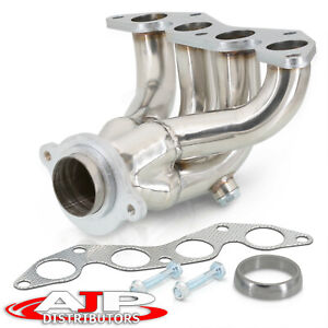 Stainless Steel 4 1 Exhaust Header Manifold For 2001 2005 Honda Civic Ex Es1 1 7
