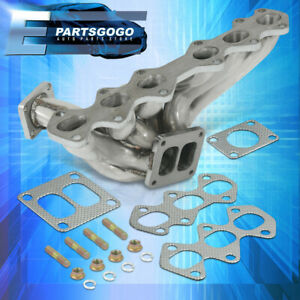 For 1993 1998 Toyota Supra Mkiv 2jzgte Stainless Steel T4 T04b Turbo Manifold