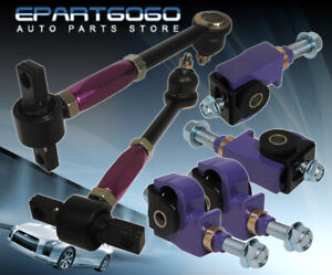 For 90 97 Accord Cb Purple Front Rear Camber Kit Adjustable Suspension Jdm Link