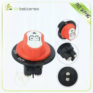 Battery Isolator Disconnect Cut Off Power Kill Switch For Marine Car Boat Rv Atv