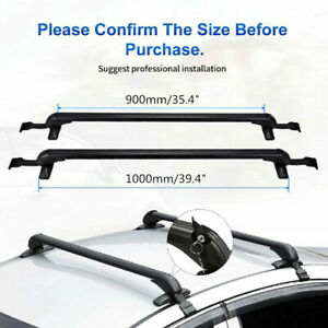2x Universal Car Roof Rack Overhead Side Rails Bars Bike luggage Carrier Bracket