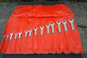 Snap On 14 Piece Flank Drive Combination Wrench Set Sae 3 8 To 1 1 4 Oex714k