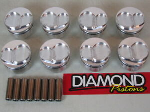 New Diamond 4 125 Domed 13 Deg Pistons W pins Sbc Drag Race Sprint Stock Car Ac