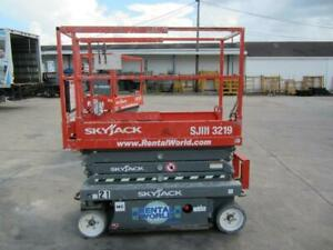 2017 Skyjack Sjiii 3219 Scissor Lifts 19ft Platform 25ft Working Height