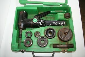 Greenlee 7906sb 7904sb Quick Draw Hydraulic Punch Slugbuster Set