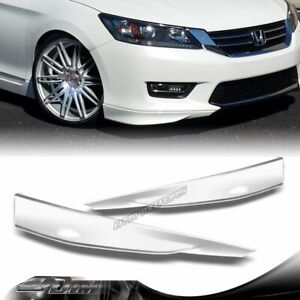For 2013 2015 Honda Accord 4dr Hfp style Painted White Front Bumper Splitter Lip