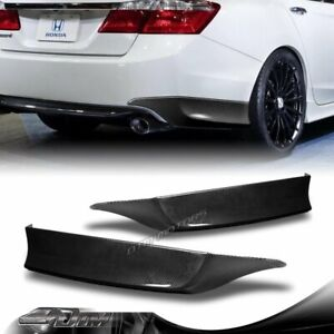 For 2013 2015 Honda Accord 4 dr Hfp style Carbon Look Rear Bumper Spoiler Lip