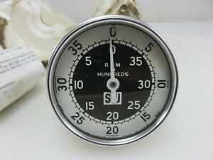 Stewart Warner 757 aa Hand Held Tachometer 0 4000 Rpm In Hundreds