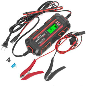 6 12v 4a Battery Charger Maintainer Full Automatic 8 stages Charging With Clamps