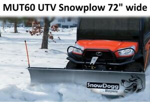 Clearance Snow Plow Snowdogg Mut60 Reliable Strong Perfect For Utv s