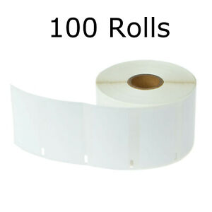 100roll 1000 Mailing Address Barcode Tags Shipping Labels Tape 2 1 4 X 1 1 4