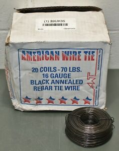 20 Rebar Tie Wire 16bartw35 340 Per Roll 16ga Black Annealed Bare Wire Coil