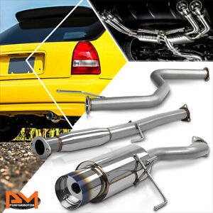 For 96 00 Honda Civic Ek ej em Hb 4 5 Burnt Tip Muffler Catback Exhaust System