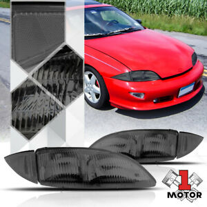 Smoke Tinted Headlight Lamp Clear Turn Signal Reflector For 95 99 Chevy Cavalier