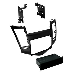 For Chevy Cruze 11 15 Single Double Din Satin Black Stereo Dash Kit