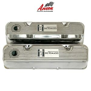 Ford De Tomaso Pantera Valve Covers Polished Style 2 351 Cleveland Ansen Usa
