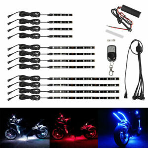 72led Motorcycle H d Led Neon Under Glow Lights Strip Kit For Harley Davidson