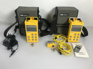 Lot 2 Hp 8140a Fiber Optical Loss Tester W 81411a 81412a 81413a 81401a