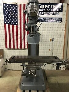 Bridgeport Milling Machine 42 Table And Power Feed