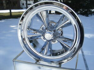 17x7 Us Mag Chrome Gm Chevy Buick Olds 5 On 4 75 Bp Wheel New W lugs
