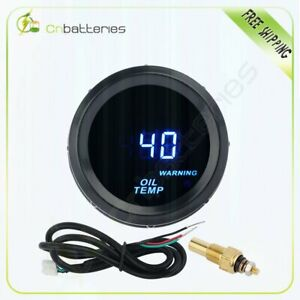 Universal Black 2 52mm Digital Led Oil Temp Temperature Gauge Meter 40 150 C