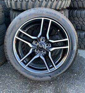 Ford Mustang 18 Factory Takeoff Wheel Pirelli Tire 235 50zr18 Oem New 5 0
