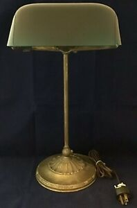 Antique Emeralite Bankers Lamp 8734 A 1916 1926 Electric Light