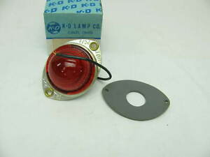 Vintage Kd Lamps 524 1601 Beehive Side Marker Light Red Lens Kd524