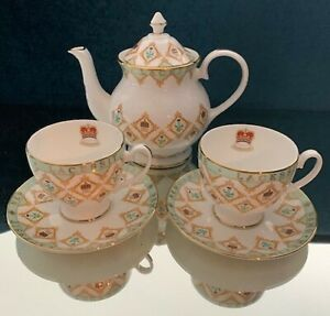 6 Pc Tea Set Balmoral Fine English China Nwt Original Boxes