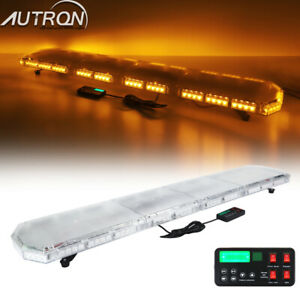 47 70 78 Amber Led Emergency Warning Flashing Tow Plow Truck Strobe Light Bar