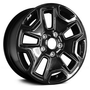 For Jeep Wrangler 13 17 Alloy Factory Wheel 17x7 5 10 Slot All Painted Black