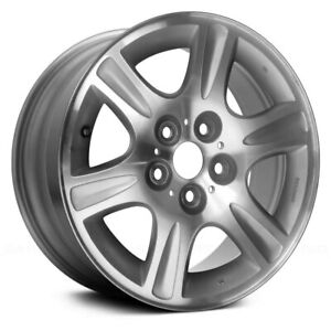 For Mazda 626 00 02 Alloy Factory Wheel 16x6 5 6 spoke Bright Silver Textured