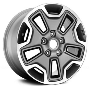 For Jeep Wrangler Jk 18 17 Alloy Factory Wheelx7 5 10 Slot All Pain